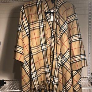 Burberry print shawl poncho